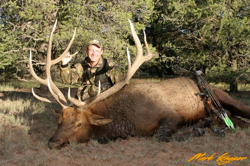 BE292, Mark Kayser with Pope and Young New Mexico bull elk, copyright Mark Kayser