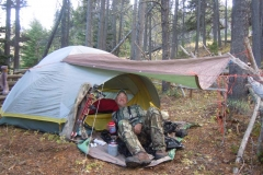 BE503, Backcountry elk camp, copyright Mark Kayser