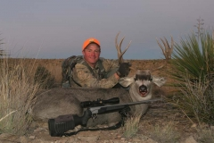 DMH12, Kayser with New Mexico desert mule deer, copyright Mark Kayser edit