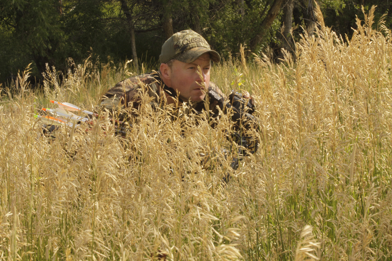 BS844, Bowhunting grassland big game (use for Three Rivers Adventures), copyright Mark Kayser
