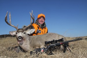 MMH12, Mark Kayser with Nebraska Sandhills muzzleloader muley, copyright Mark Kayser