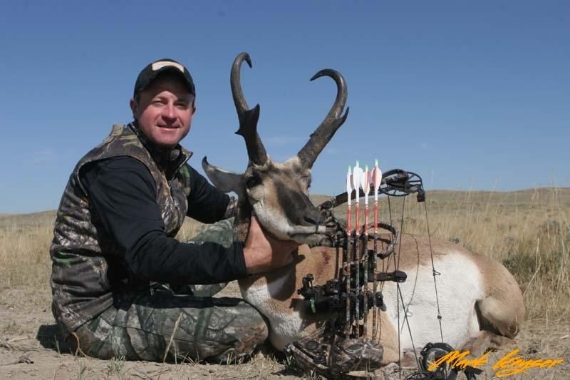 AA139, Mark Kayser with trophy Wyoming pronghorn, copyright Mark Kayser