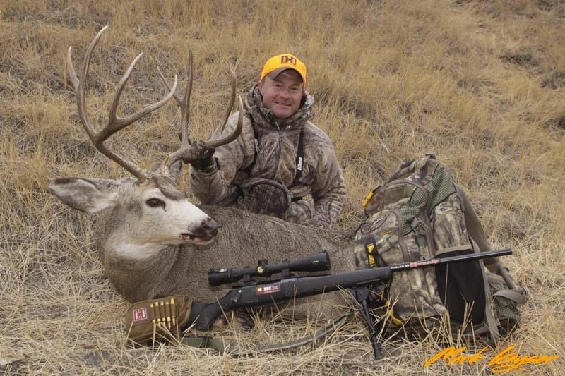 _MG_0447, Mark Kayser with SD tribal buck, copyright Mark Kayser