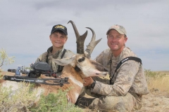 AA165, Cole and Mark Kayser with Mark's trophy buck taken on WY public land, copyright Mark Kayser