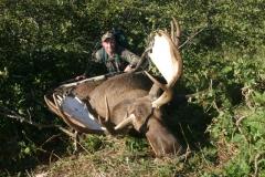 AMH5, Mark Kayser with 62-inch Alaska moose, copyright Mark Kayser