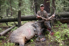 BE487, Cole Kayser with 2013 Wyoming bull elk, copyright Mark Kayser