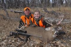 copyright Mark Kayser_2011_11_24_9135 Mark and Katelyn Kayser with Katelyn's first deer.