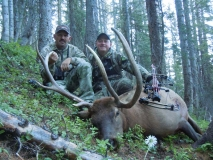 BE517, Travis Shippey and Mark Kayser with Colorado bowkilled elk, copyright Mark Kayser